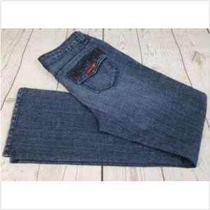 Sasson Ooh La La Boot Cut Jeans Sz 4 Rhinestone